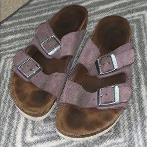 Purple Birkenstock Arizona soft footbed